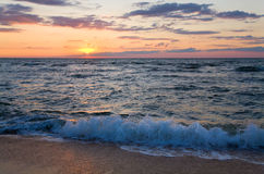 Sea sunset surf wave Royalty Free Stock Photography