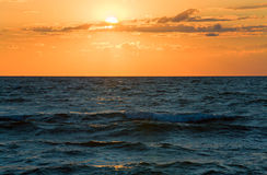 Sea sunset surf wave Royalty Free Stock Photo