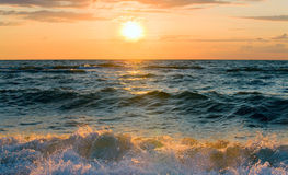 Sea sunset surf wave Stock Photo