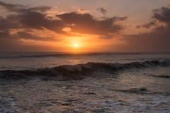 Sea sunset. At Tanah log . Bali - Indonesia Royalty Free Stock Images
