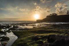 Sea sunset. At Tanah lot . Bali - Indonesia stock photography