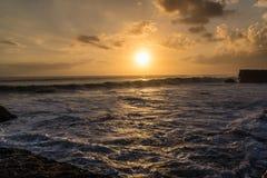 Sea sunset. At Tanah lot . Bali - Indonesia Stock Image