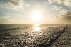 Sea sunset. At Tanah lot . Bali - Indonesia Royalty Free Stock Photography