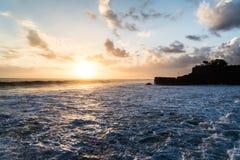 Sea sunset. At Tanah lot . Bali - Indonesia Royalty Free Stock Photo