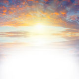 Sea sunset_text Stock Photo