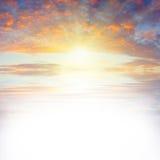 Sea sunset_text Stock Photo