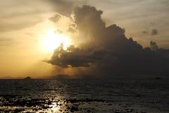 Sea sunset. Sunset on the sea in Thailand Stock Photos