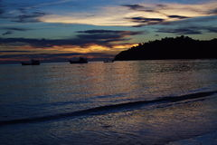Sea after sunset in thailand Stock Images
