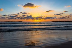 Sea Sunset tourism, sea Stock Photo