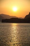 Sea Sunset. A view of a sea bay at sunset Royalty Free Stock Image