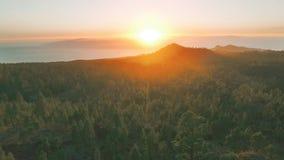 Sea Sunset on the volcanic island stock video