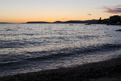 Sea at Sunset Stock Images