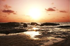 Sea sunset1 Royalty Free Stock Images