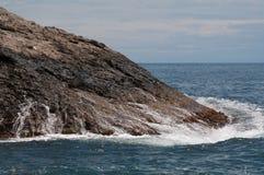 Sea surf. Black Sea. Sea surf. Kind of a wave crashed against the rocks Royalty Free Stock Photo