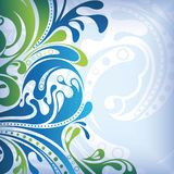 Sea Surf. Abstract design sea wave and surf in blue Royalty Free Stock Photos