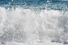 Sea surf. Close up of sea surf royalty free stock image