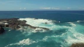 Sea surf the Atlantic Ocean stock video