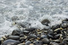 Sea surf on the beach royalty free stock image