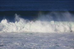 Sea surf great wave break Royalty Free Stock Photography