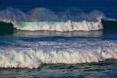 Sea surf great wave break. On coastline stock photo