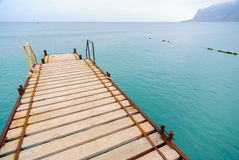 Sea surf pier Royalty Free Stock Images