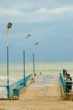Sea surf pier Stock Photo