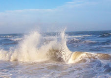 Sea surf with raging waves. The power of the ocean Royalty Free Stock Images