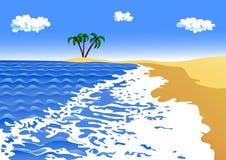 Sea surf on a sandy beach Royalty Free Stock Photos