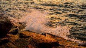 Sea surf splashing Royalty Free Stock Image