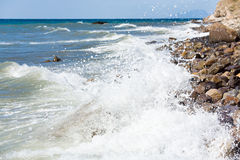 Sea surf wave Royalty Free Stock Photos