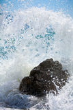 Sea surf wave Stock Images
