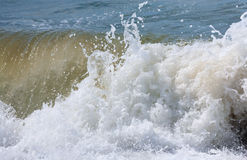Sea surf wave (nature background) Royalty Free Stock Image