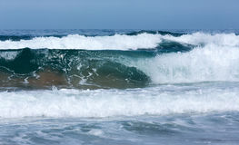 Sea surf waves. Royalty Free Stock Photo
