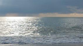 Sea surf. Waves runs on coastal pebble. Sea surf, Waves runs on coastal pebble stock video footage