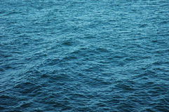 Sea surface. A image of a surface of blue sea in a sunny day Royalty Free Stock Photo
