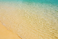 Sea surface. The beach with rippled pattern of sea surface Royalty Free Stock Photos