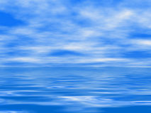 Sea surface and cloudy sky Royalty Free Stock Photos
