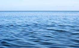 Sea surface with ripples Royalty Free Stock Photo