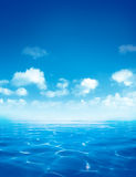 Sea surface with ripples Royalty Free Stock Images