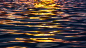 Sea surface with ripples and waves stock footage