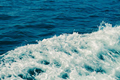 Sea surface. Seascape in early morning hours under clear sky Stock Images