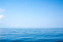 Sea surface and sky Royalty Free Stock Photography
