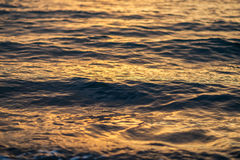 Sea surface at sunset. Stock Photography