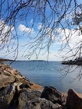 By the sea. Swedish Archipelago View Stock Image