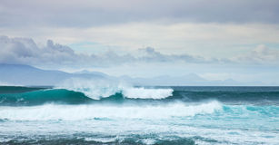 Sea swell by the northern shore of Fuerteventura Royalty Free Stock Images