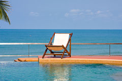 Sea and swimming pool Stock Images