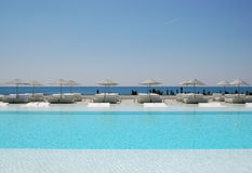 Sea and swimming pool Stock Photography