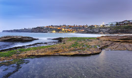 Sea Tamarama PUddle Town Royalty Free Stock Image