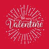 Sea tarjeta del día de San Valentín de la mina Imagen de archivo