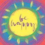 Sea tarjeta feliz Fotos de archivo